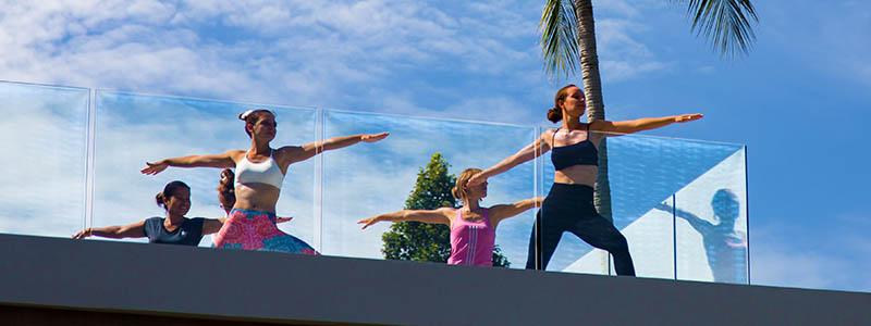 Yoga on the deck