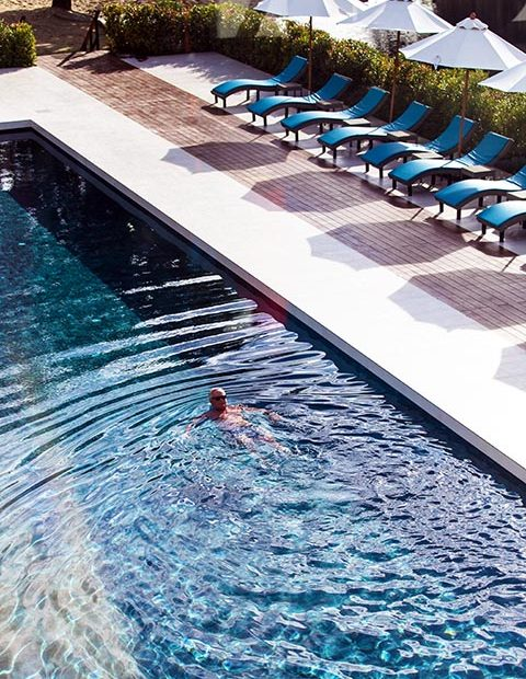 Sun all day, designed that way. New Leaf Wellness Pool
