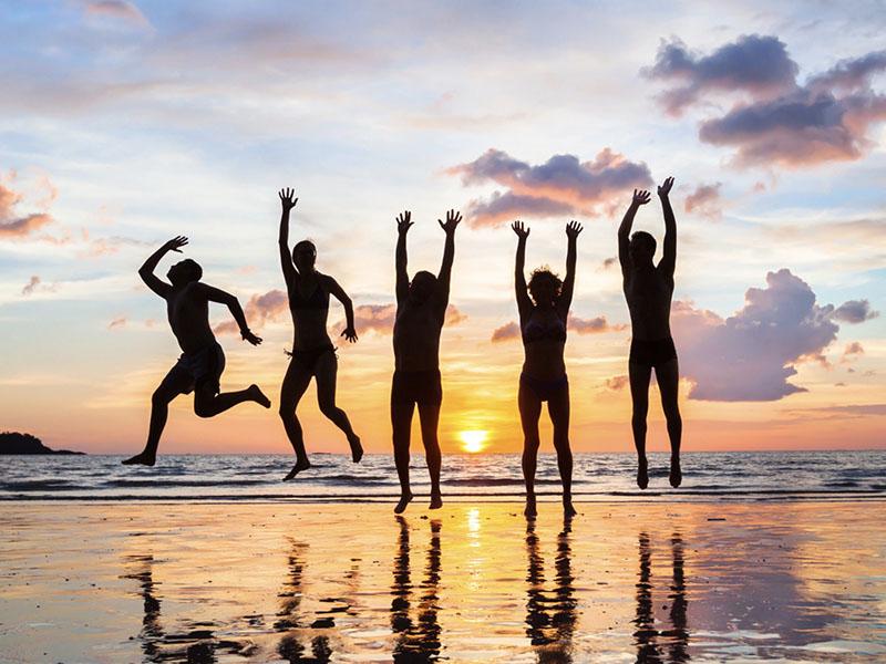 Happy People on the beach