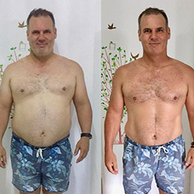 Detox guest showing results from his visit.