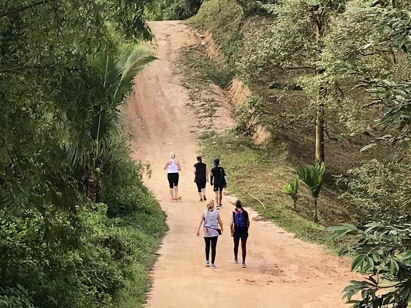 Morning hike in Thailand