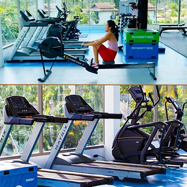 gym and exercise area at New Leaf Wellness