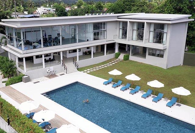 Aerial view of new Leaf Wellness Resort