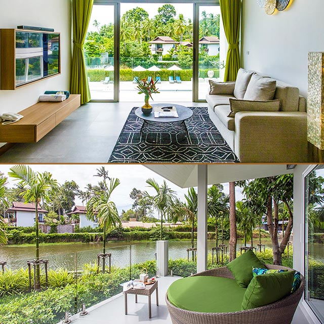 room and balcony at New Leaf Wellness Thailand