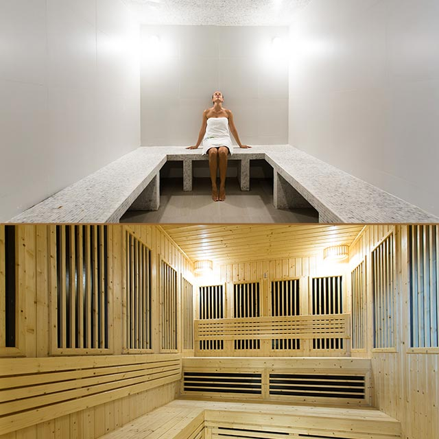far infrared sauna and steam room at New Leaf Wellness Thailand